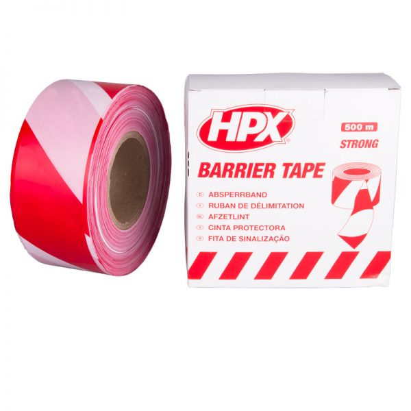 B70100 - Barrier tape - white red - 70mm x 500m - 5425014222869