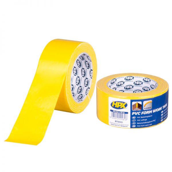 BT5033 - PVC form work tape - yellow - 50mm x 33m - 5425014224818