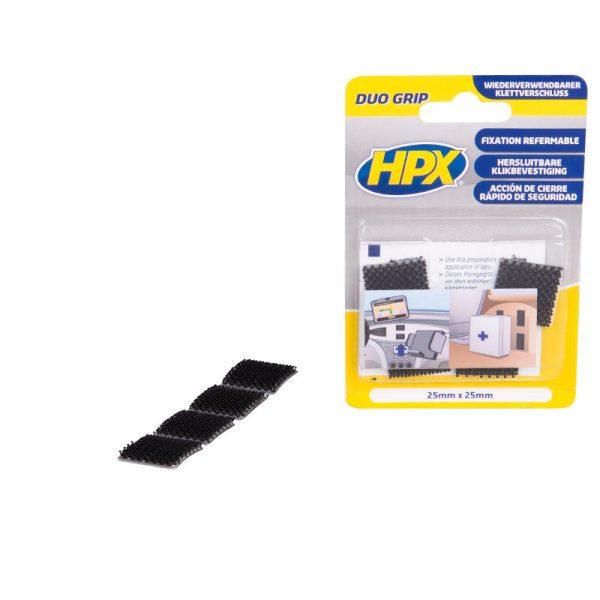 DG1000 - Duo grip fastener - pads - 25mm x 25mm - 5425014220926