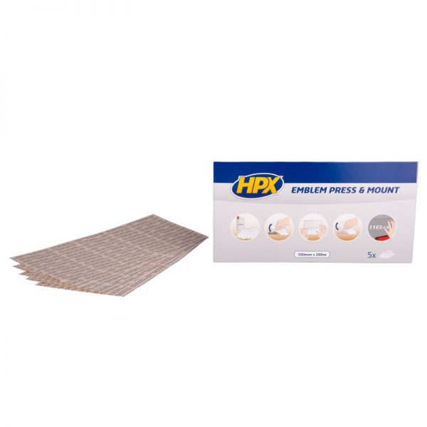 EP1020 - Emblem press and mount - Glue strips - transparent 100mm x 200mm - 5425014225822