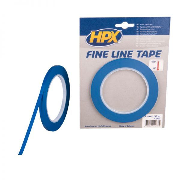 FL0633 - Fine line tape - blue - 6mm x 33m - 8711347114672