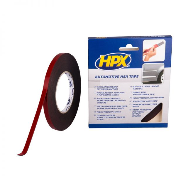 HSA003 - High strenght acrilyc 3200 - Double sided mounting tape - anthracite - 9mm x 10m - 8711347114269