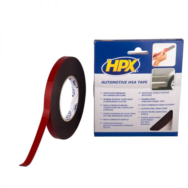 HSA004 - High strenght acrilyc 3200 - Double sided mounting tape - anthracite - 12mm x 10m - 8711347114283