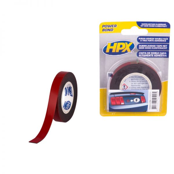 HSA024 - High strenght acrilyc 3200 - Double sided mounting tape - anthracite - 12mm x 2m - 8711347125005