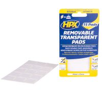 HT2525 - Removable Transparent - Pads - 25mm x 25mm - 5407004561813