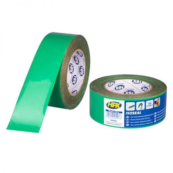 IS5025 - Isoseal - PE Film tape - green - 50mm x 25m - 5407004560076