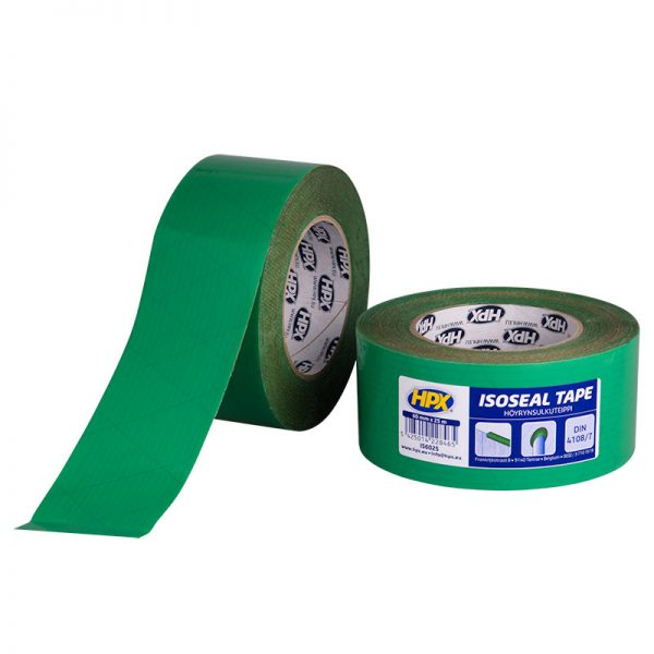 IS6025 - Isoseal - PE Film tape - green - 60mm x 25m - 5425014228465