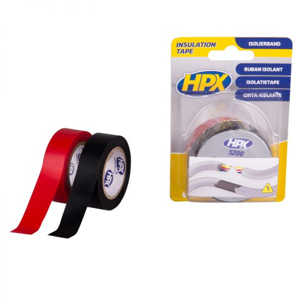 IT1910 - PVC insulating tape 5200 - black and red - 19mm x 10m - 8711347173297