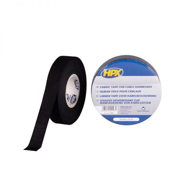 LI1925 - Cloth insulation tape - Fabric tape for cable harnesses - black - 19mm x 25m - 5425014221275