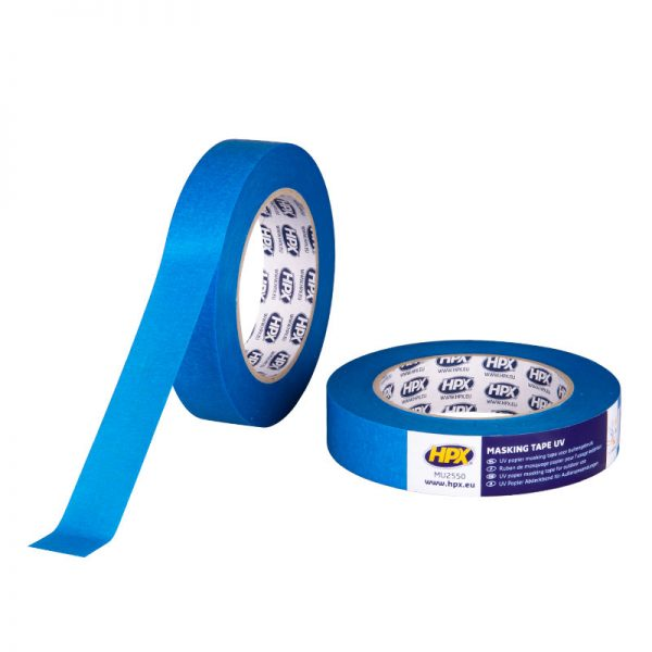 MU2550 - Masking tape UV - blue - 25mm x 50m - 5425014224917