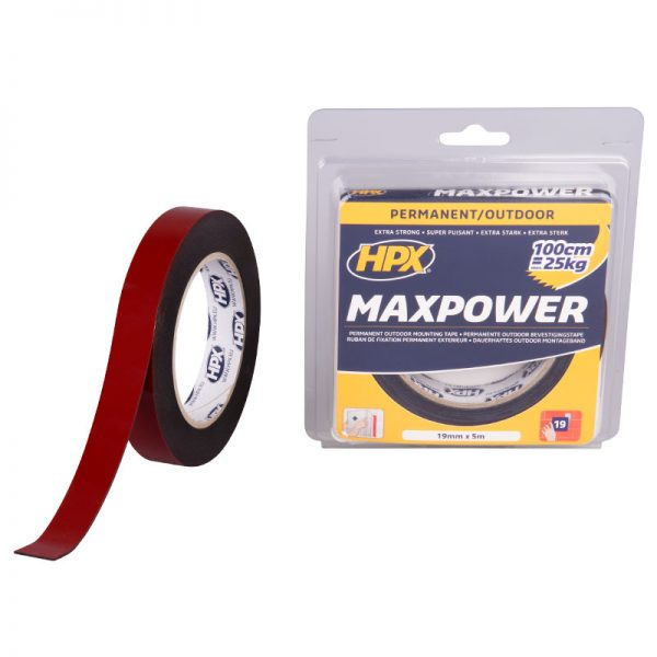 OT1905 - Max Power Outdoor - Mounting tape - black - 19mm x 5m - 5425014229868