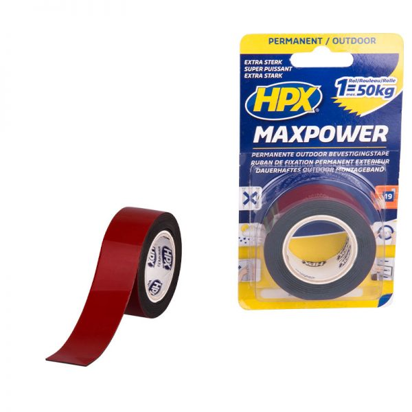 OT2502 - Max Power Outdoor - Mounting tape - black - 25mm x 1 5m - 5425014226850