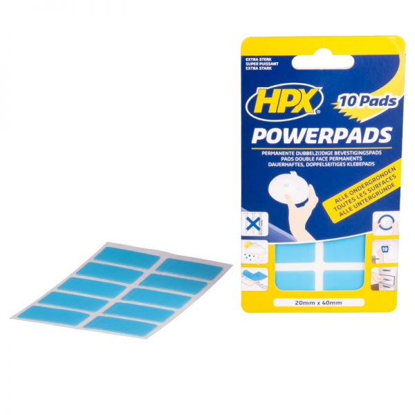 PA2040 - Powerpads - Double sided adhesive pads - 10 pcs - 20mm x 40mm - 5407004560755