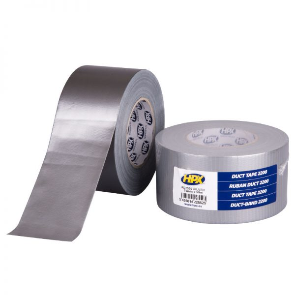 PD7550 - Duct tape 2200 - silver - 75mm x 50m - 5425014225525