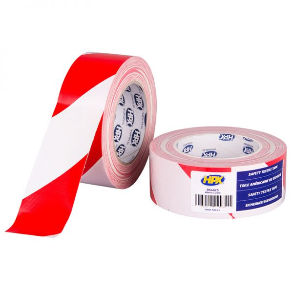 RS4825 - Safety textile tape - white red - 48mm x 25m - 5425014229301