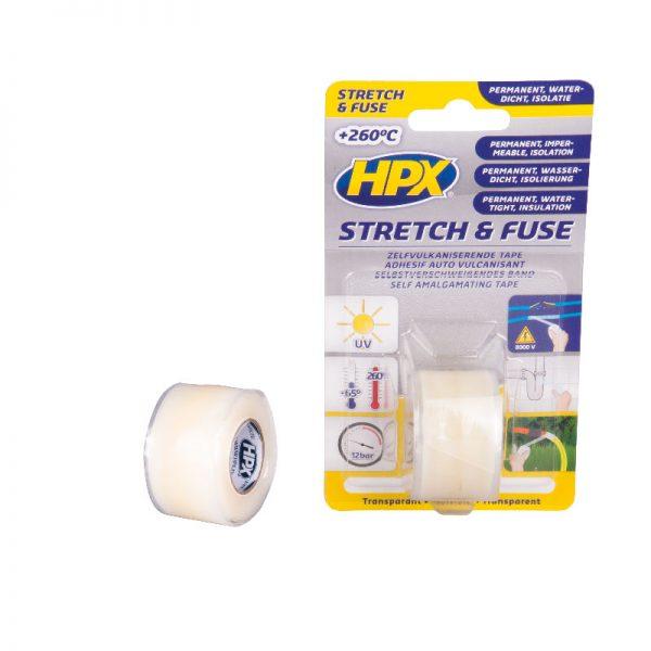 SI2580 - Stretch & Fuse - Self fusion tape - transparent - 25mm x 1 80m - 5425014225860