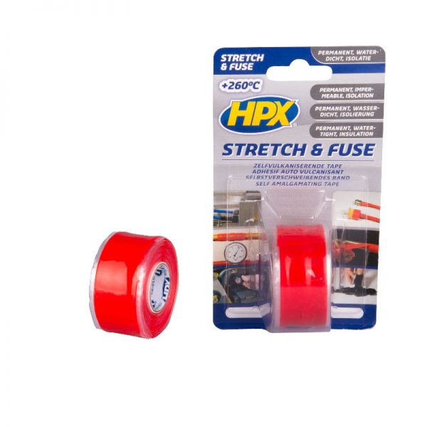 SO2503 - Stretch & Fuse - Self fusion tape - red - 25mm x 3m - 5425014225907