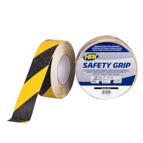 SY5018 - Safety grip - Anti - slip tape - black yellow - 50mm x 18m - 5425014225228