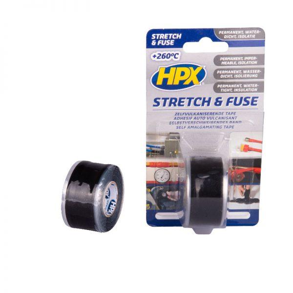 SZ2503 - Stretch & Fuse - Self fusion tape - black - 25mm x 3m - 5425014225921