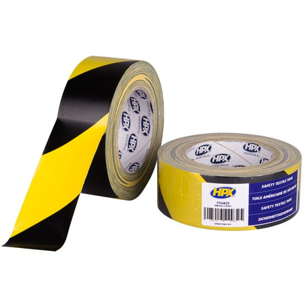 YS4825 - Safety textile tape - yellow black - 48 mm x 25m - 5425014229325