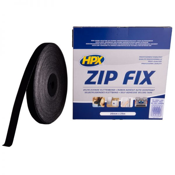 Z2025L - Zip fix fastener - loop - black - 20mm x 25m - 5425014224092